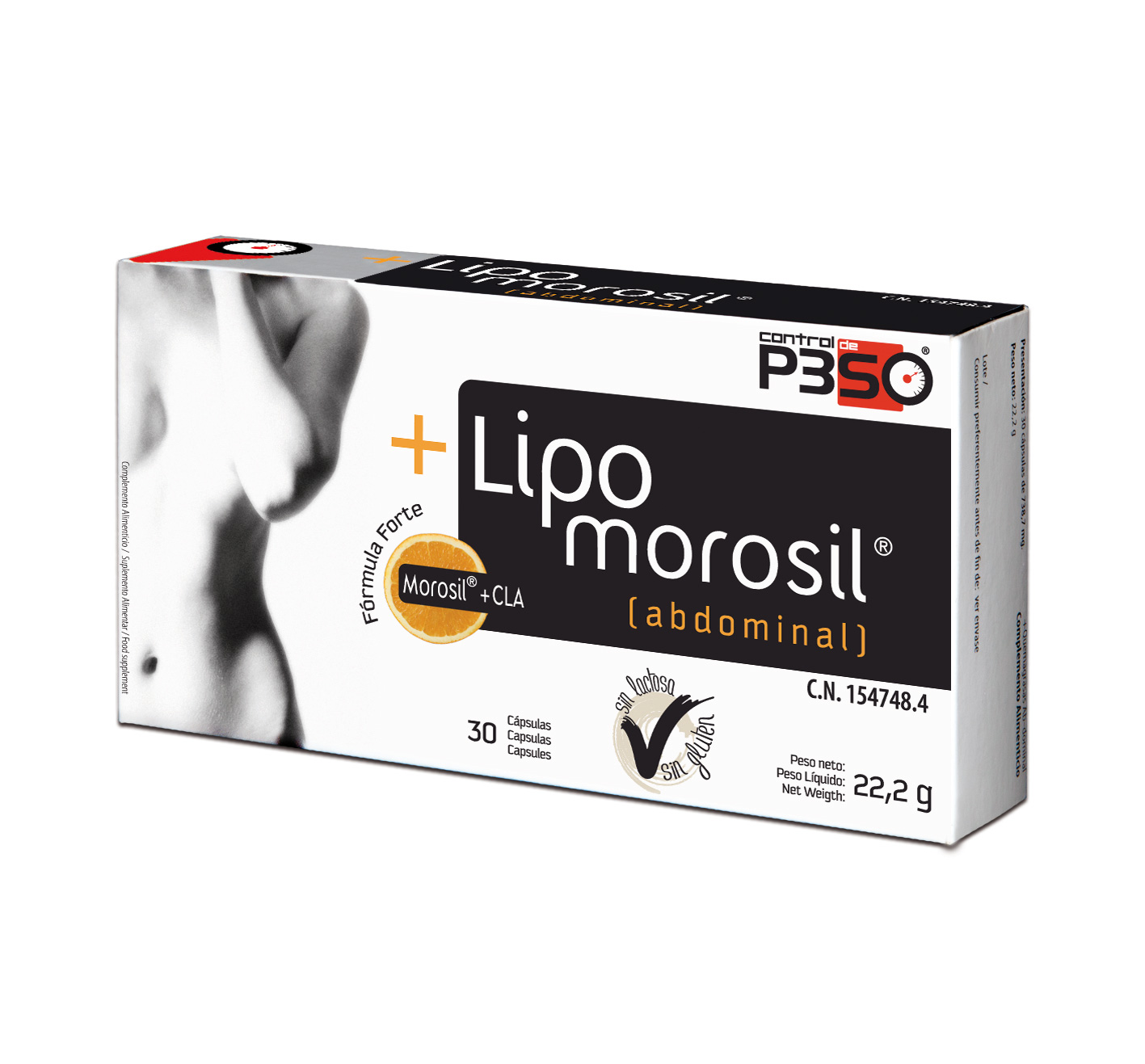 LIPOMOROSIL (QUEMAGRASAS ABDOMINAL) 30 CAPSULAS - Salumet